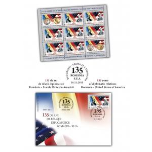 relatii diplomatice. 135 de ani de relații diplomatice româno-americane sărbătorite pe timbrul național