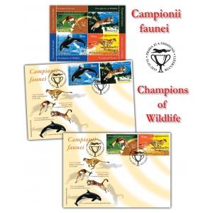 ghepard. Campionii faunei ilustraţi pe primele timbre româneşti ale anului 2015