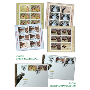 ciocanitoare. Cele mai apreciate exemplare din fauna românească pe mărcile poştale