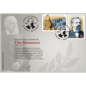 Comemorare prin filatelie: Titu Maiorescu