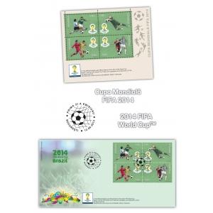 Cupa Mondială FIFA 2014 marcată pe timbrele româneşti