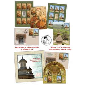 icoana rastignirii. Elemente din tradiția creștină ilustrate pe mărcile poștale românești - Anul omagial al misiunii parohiei și mănăstirii azi -