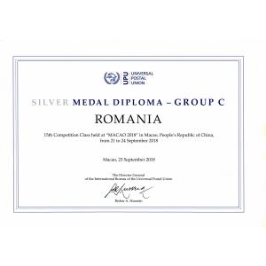 """Expoziția """"Descoperiți România prin timbre"""", medalie de argint la competiția filatelică organizată de Uniunea Poștală Universală"""