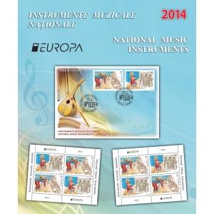 posteurop. Expresivitatea  şi frumuseţea instrumentelor muzicale tradiţionale pe mărcile poştale româneşti