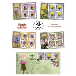 flori de spin. Flori cu spini ilustrate pe timbrele românești