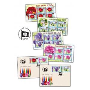 simbol. Flori simbol de țară, pe timbrele românești
