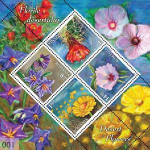 infloreste. Florile deşertului ilustrate pe mărcile poştale româneşti