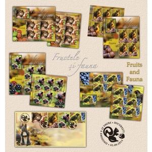 graur. Fructele şi Fauna pe timbrele poştale româneşti