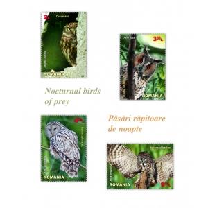 cucuveaua.  Frumusețea și expresivitatea păsărilor răpitoare de noapte pe mărcile poștale românești