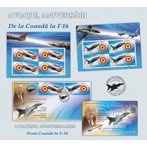 f-16. Istoria aviației române în universul filatelic - De la Coandă la F-16