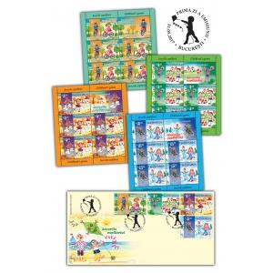 Jocurile copilăriei noastre, amintiri pe timbrele românești