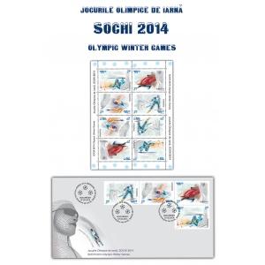 sochi. Jocurile Olimpice de Iarnă Sochi 2014 ilustrate pe mărcile poştale româneşti