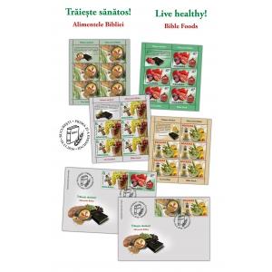 smochine. Mănâncă sănătos, trăiește sănătos! Alimentele Bibliei pe timbrele românești