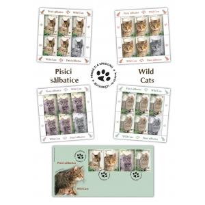 abisiniana. Mărcile poștale românești pătrund în minunata lume a pisicilor sălbatice