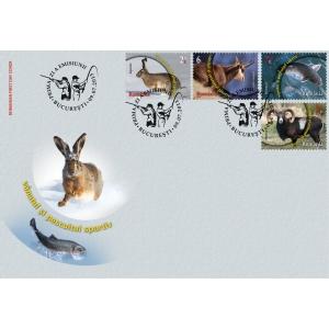 muflon. Mărcile poștale românești promovează fauna națională - Vânatul și pescuitul sportiv