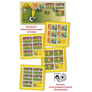 campionat mondial fotbal. Mărcile poștale susțin România la Campionatul European de Fotbal Franța 2016