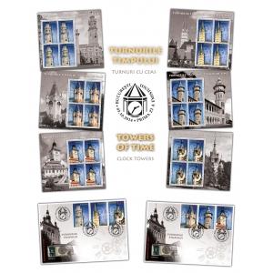 """turnuri cu ceas. Mărcile poştale româneşti """"imortalizează"""" timpul în emisiunea Turnurile Timpului, Turnuri cu Ceas"""