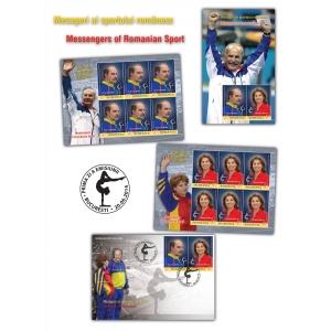 Mesageri ai sportului românesc pe mărcile poştale