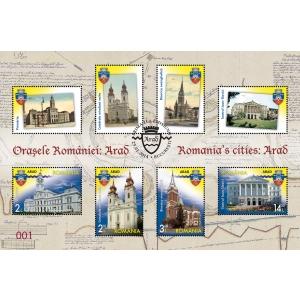 Oraşele României pe mărcile poştale: ARAD
