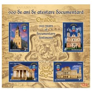 romfilatelia oradea. Blocul-coliţă special de 4 timbre, disponibil doar în albumul filatelic