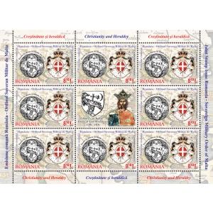 OSMM. Minicoala emisiunii - 8 timbre şi o vignetă