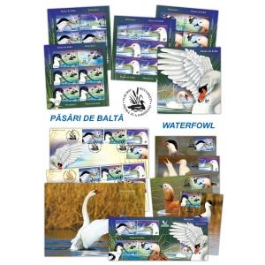 pasari. Păsările de baltă călătoresc în lumea timbrelor