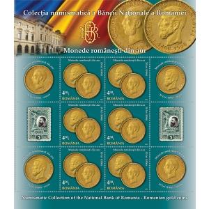 numismatic. Patrimoniul numismatic al Băncii Naţionale pe mărcile poştale româneşti