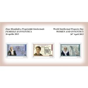 josephine. Cele trei mărci poştale ale emisiunii FEMEILE ŞI INVENTICA