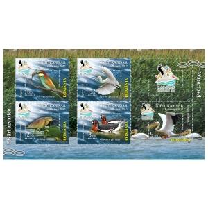 pelican. Blocul de 5 timbre al emisiunii