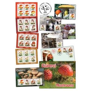 Resurse ale naturii ilustrate pe mărcile poștale: Ciuperci