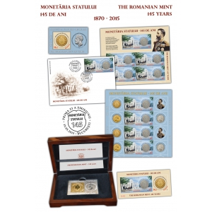 145 ani. Timbrele și monedele, purtătoare de sensuri şi simboluri, istorie şi cultură - 145 de ani de istorie a monedei naţionale