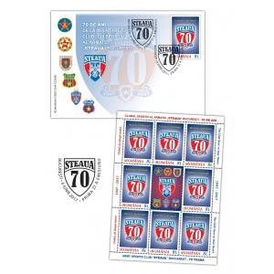 Timbru aniversar: istoria continuă! Steaua, 70 de ani de la înființare