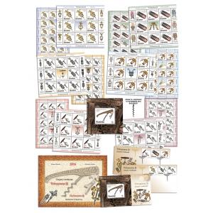 tirbusoane. Tirbușoane de colecție pe timbrele celei mai noi emisiuni Romfilatelia