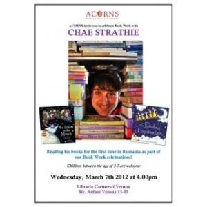 Scriitorul Chae Strathie invitat special la București