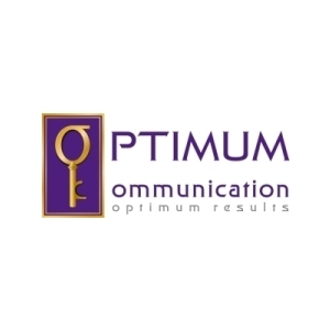 comunicare afaceri. Design de logo Optimum Communication