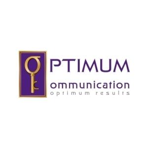 consultanta afaceri. Design de logo Optimum Communication