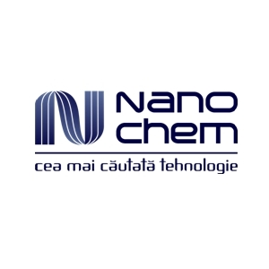 Nanochem. Design Logo firme de servicii si distributie