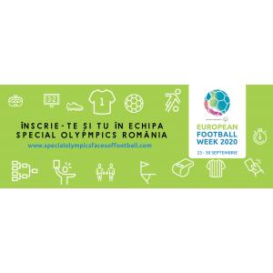 #faceoffootball. Săptămâna Europeană a Fotbalului Special Olympics