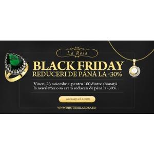 Black Friday La Rosa – reduceri de până la 30% la inelele de logodna, verighetele si bijuteriile La Rosa