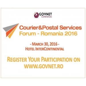 Forumul Roman de Curierat si Servicii Postale 2016, editia a 3-a, 30 Martie, Hotel InterContinental, Bucuresti