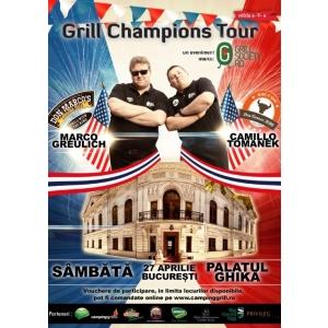 "pasionati de grilling si barbecue. Grill Champions Tour deschide sezonul de grilling cu ""American Barbecue Show"" intr-un decor de vis, la Palatul Ghika in Bucuresti"
