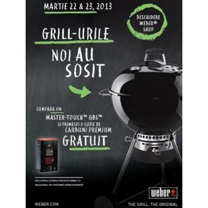 Lansare a noilor modele de grill-uri Weber numai in 22 si 23 Martie la CampingGrill.ro