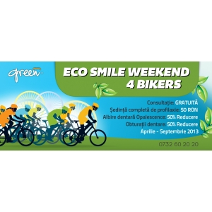 greend. Green Dental da startul campaniei ECO SMILE WEEKEND 4 BIKERS