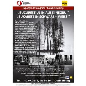 """casa schiller. Expoziţie de fotografie """"Bucureştiul în alb şi negru"""" la Casa de Cultură Friedrich Schiller"""