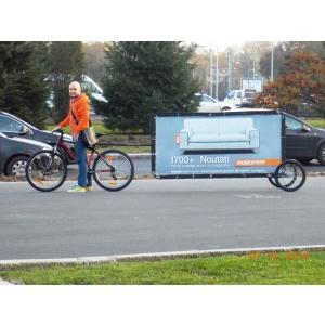 adbike. Publicitate pe bicicleta