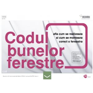REHAU a lansat www.CodulBunelorFerestreRehau.ro, ghidul celor care vor sa stie ce trebuie sa astepte de la o fereastra