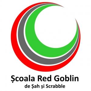 scrabble. Logo Scoala Red Goblin de sah si scrabble
