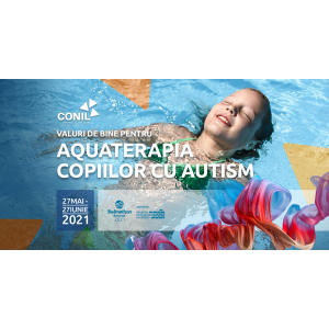 Artistul Alex Ștefănescu susține campania Asociației CONIL - Aquaterapie pentru copiii cu autism din cadrul Swimathon 2021