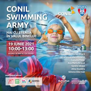 Bazinul de înot al Clubului Sportiv Steaua București, devine câmp de luptă pentru copiii cu autism din Asociația CONIL!