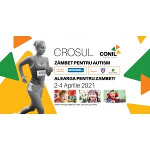 Crosul CONIL, zâmbet pentru autism, eveniment virtual organizat de Asociația CONIL în perioada 2-4 aprilie
